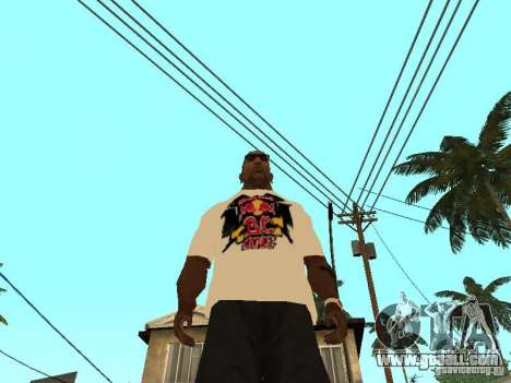 T Shirt Red Bull for GTA San Andreas third screenshot