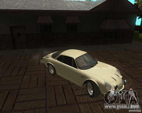 Renault Alpine 110 for GTA San Andreas left view