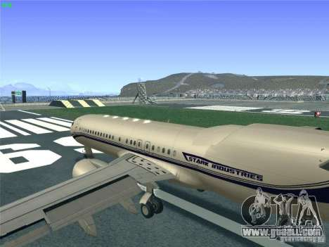 Boeing 737 Iron Man Bussines Jet for GTA San Andreas inner view