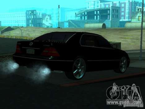 Lexus LS 430 for GTA San Andreas back left view