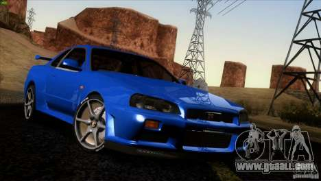 Nissan Skyline R34 Drift for GTA San Andreas