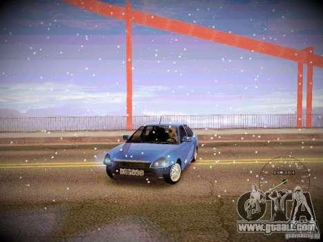 Lada Priora Turbo v2.0 for GTA San Andreas inner view