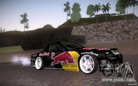 Mazda RX7 Madmikes Redbull for GTA San Andreas inner view