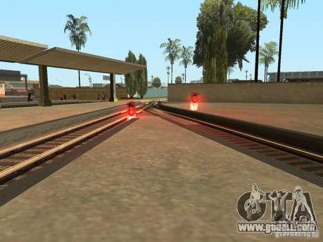 Railway traffic lights for GTA San Andreas sixth screenshot