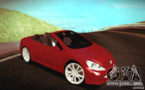 Peugeot 307CC BMS Edition for laptops for GTA San Andreas inner view