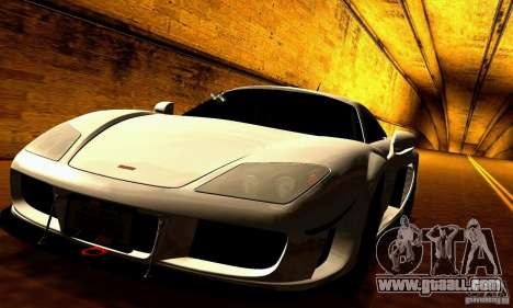 Noble M600 for GTA San Andreas bottom view