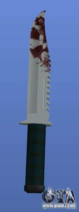 Bloody Knife V1.1 for GTA 4 third screenshot