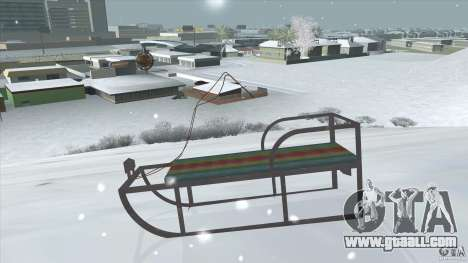 Sledge for GTA San Andreas back left view