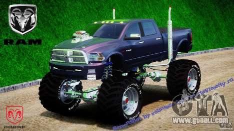 Dodge Ram 3500 2010 Monster Bigfut for GTA 4