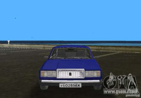 VAZ 2107 LADA car for GTA Vice City back view