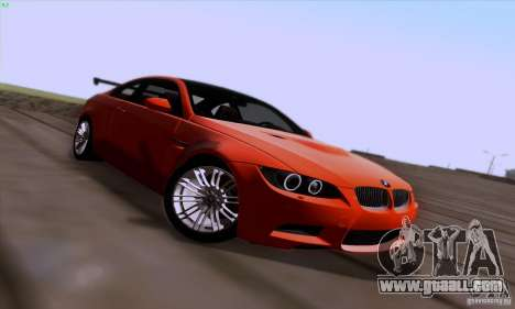 BMW M3 E92 v1.0 for GTA San Andreas upper view