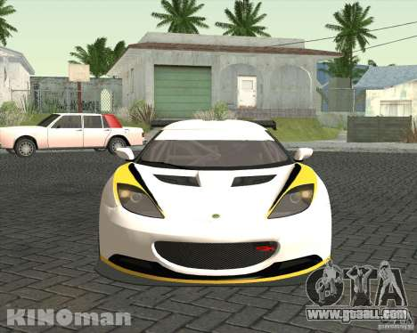 Lotus Evora Type 124 for GTA San Andreas right view