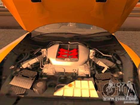 Nissan GT-R SpecV Black Revel for GTA San Andreas back view