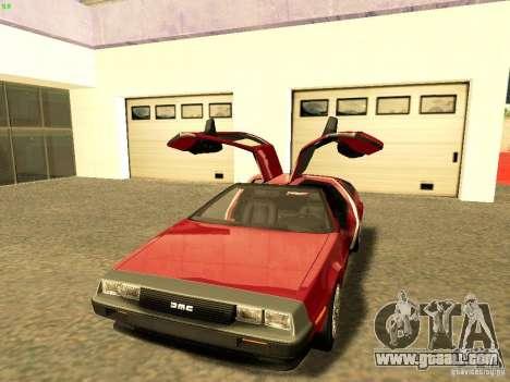 DeLorean DMC-12 V8 for GTA San Andreas right view