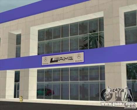AMG showroom for GTA San Andreas second screenshot