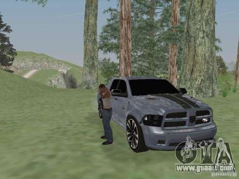 Dodge Ram R/T 2011 for GTA San Andreas back left view