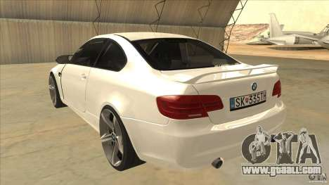 BMW 335i Coupe 2011 for GTA San Andreas back left view