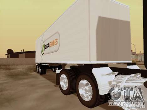 Caband trailer for GTA San Andreas left view