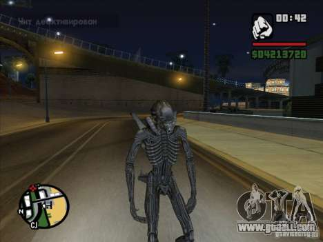 Alien Xenomorph for GTA San Andreas fifth screenshot