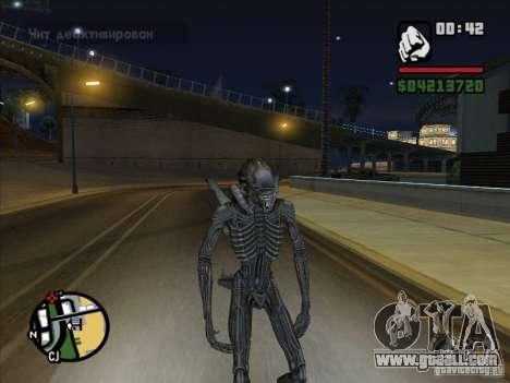 Alien Xenomorph for GTA San Andreas fifth screenshot