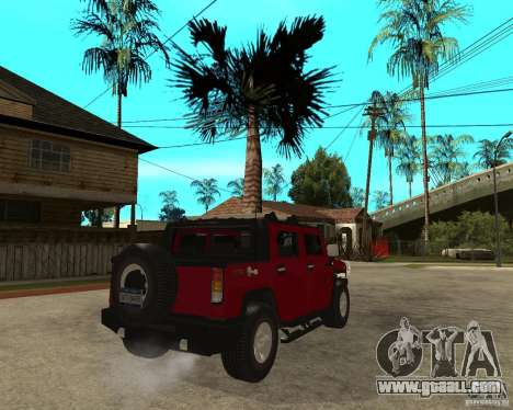 AMG H2 HUMMER SUT for GTA San Andreas back left view