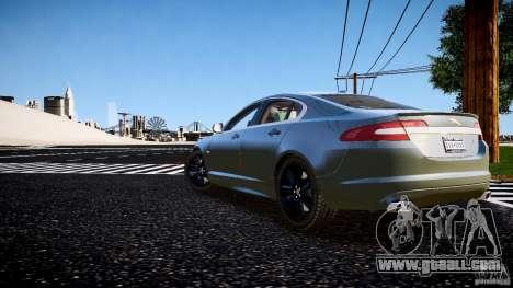 Jaguar XFR 2010 for GTA 4 left view