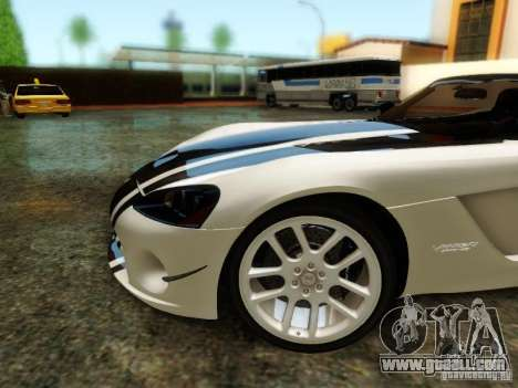 Dodge Viper SRT-10 Roadster ACR 2004 for GTA San Andreas upper view