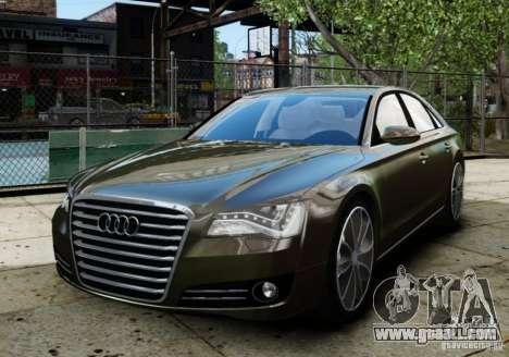 Audi A8 (D4, Typ 4H) 2010 Alpha for GTA 4