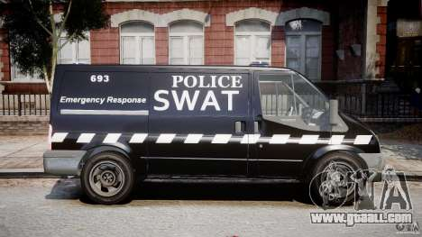Ford Transit SWAT for GTA 4 back view