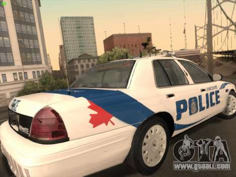 Ford Crown Victoria Vancouver Police for GTA San Andreas right view