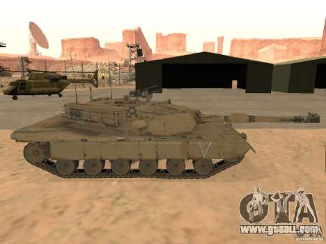 Abrams M1A2 for GTA San Andreas back left view