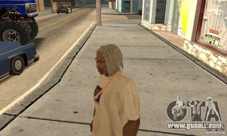 Long blonde hair for GTA San Andreas