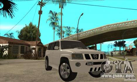 Nissan Patrol 2005 Stock for GTA San Andreas inner view