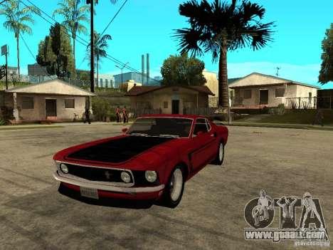 1969 Ford Mustang Boss 302 for GTA San Andreas