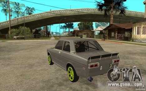 Datsun 510 Drift for GTA San Andreas back left view