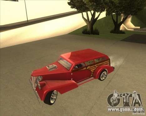 Custom Woody Hot Rod for GTA San Andreas