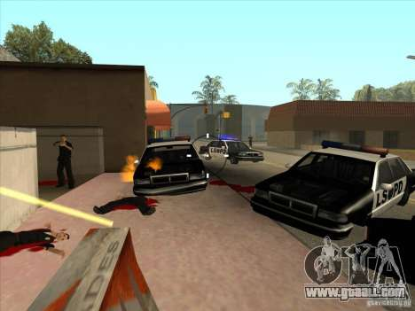 The CLEO script: machine gun in GTA San Andreas for GTA San Andreas second screenshot
