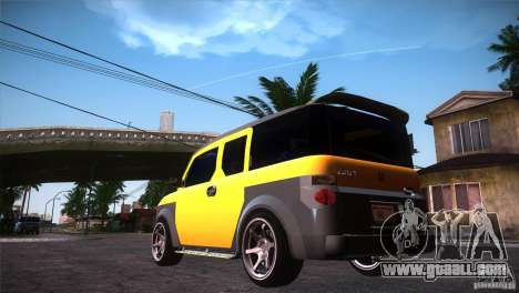Honda Element LX for GTA San Andreas back left view
