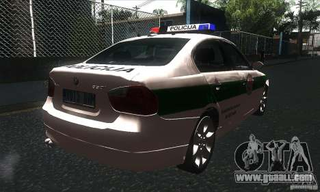BMW 330 E90 Policija for GTA San Andreas right view