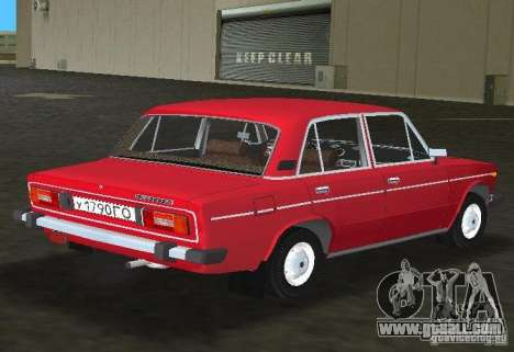 VAZ 2106 for GTA Vice City back view