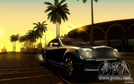 Bentley Mulsanne 2010 v1.0 for GTA San Andreas interior