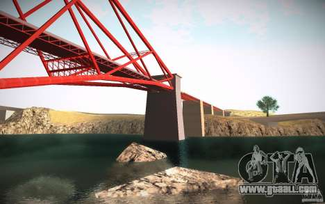 HD Red Bridge for GTA San Andreas fifth screenshot