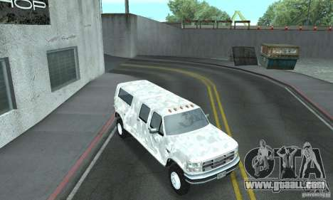 Ford F-350 1992 for GTA San Andreas upper view