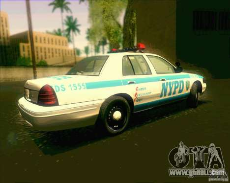 Ford Crown Victoria 2003 NYPD police V2.0 for GTA San Andreas left view