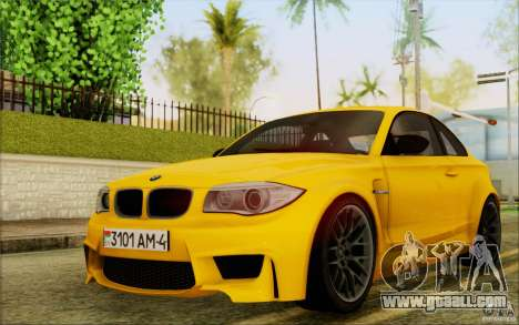BMW 1M Coupe for GTA San Andreas left view