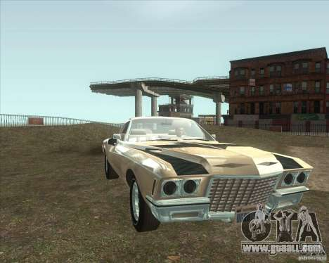 Buick Riviera Boattail 1972 tuned for GTA San Andreas back left view