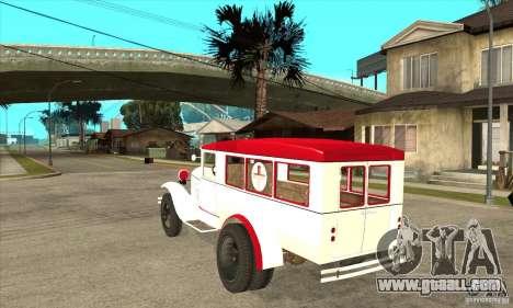 GAZ AA ambulance for GTA San Andreas back left view
