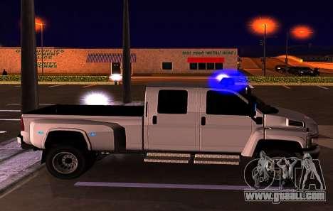 GMC Topkick C4500 for GTA San Andreas upper view