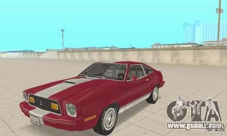 Ford Mustang II 1976 Cobra v. 1.01 for GTA San Andreas