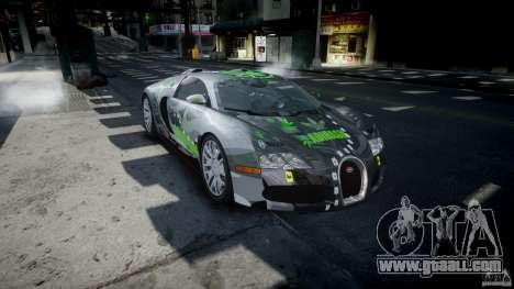 Bugatti Veyron 16.4 v1.0 new skin for GTA 4 back view
